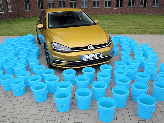 1,14 metri cubi d'acqua in meno per la produzione di un auto