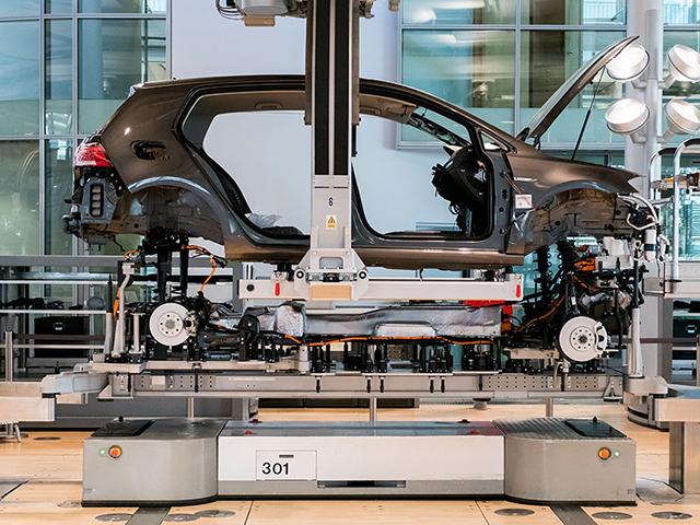 Produzione dello stabilimento Volkswagen a Dresda