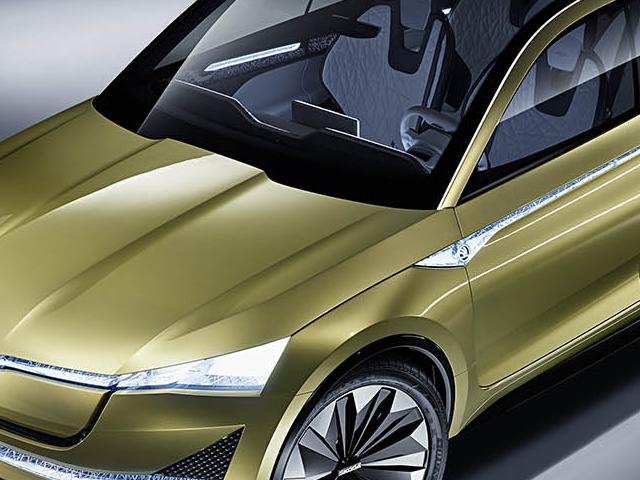 La Škoda Vision è una concept car a trazione 100% elettrica