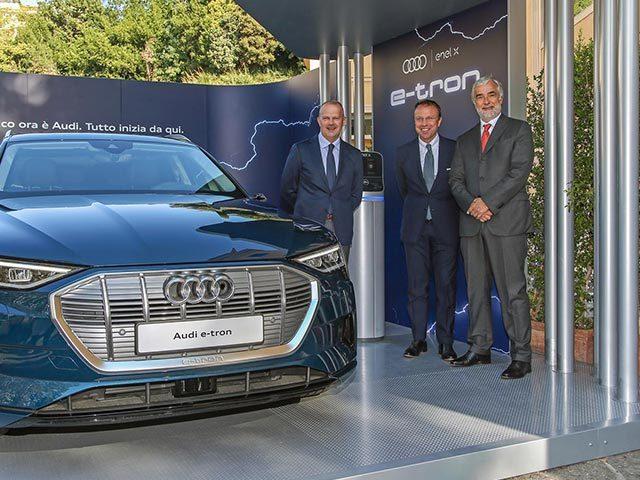 Ready for e-tron: Audi ed Enel X insieme per l'elettrico