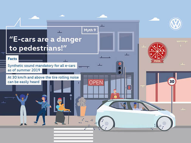 """E-cars are a danger to pedestrians!"""