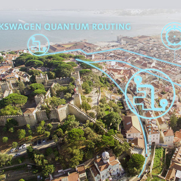 Quantum computers for traffic optimisation: a pilot project in Lisbon