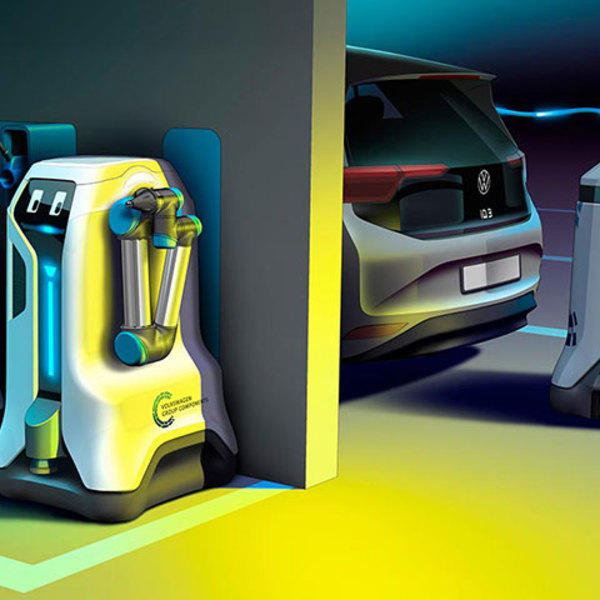 Need to charge an electric car? Leave it to the mobile robot