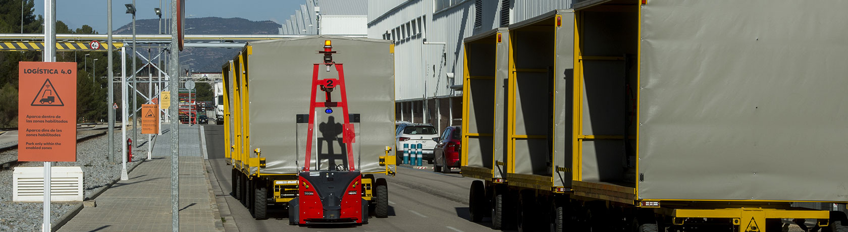 SEAT implements first self-driven robots to automate outdoor parts transport