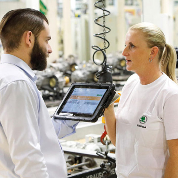 Efficient and safe: digital production at ŠKODA