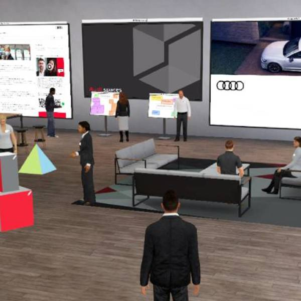 Audi spaces: a virtual 3D world of learning and work