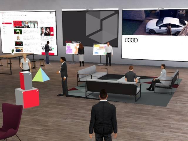 Audi Spaces, uno spazio virtuale 3D per lavoro e formazione