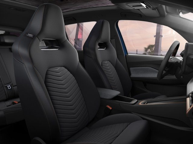 The seats of the new CUPRA Born are made of plastic from marine waste