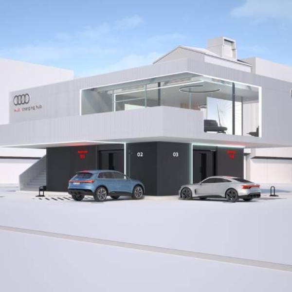 Hub dedicati per la ricarica ultrafast, il progetto pilota Audi